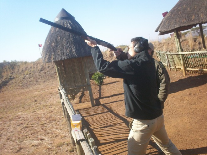 Trap Shooting at Sun City, South Africa