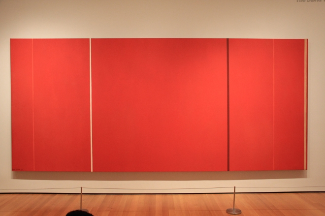 Vir Heroicus Sublimis by Barnett Newman, MoMA, New York City