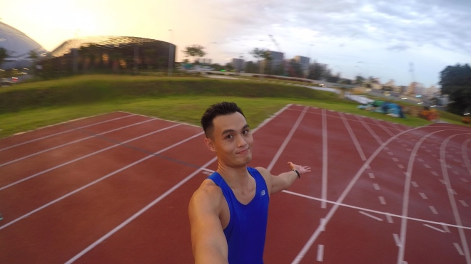 Another wet day at Kallang Practice Track. 2014, that's all folks!